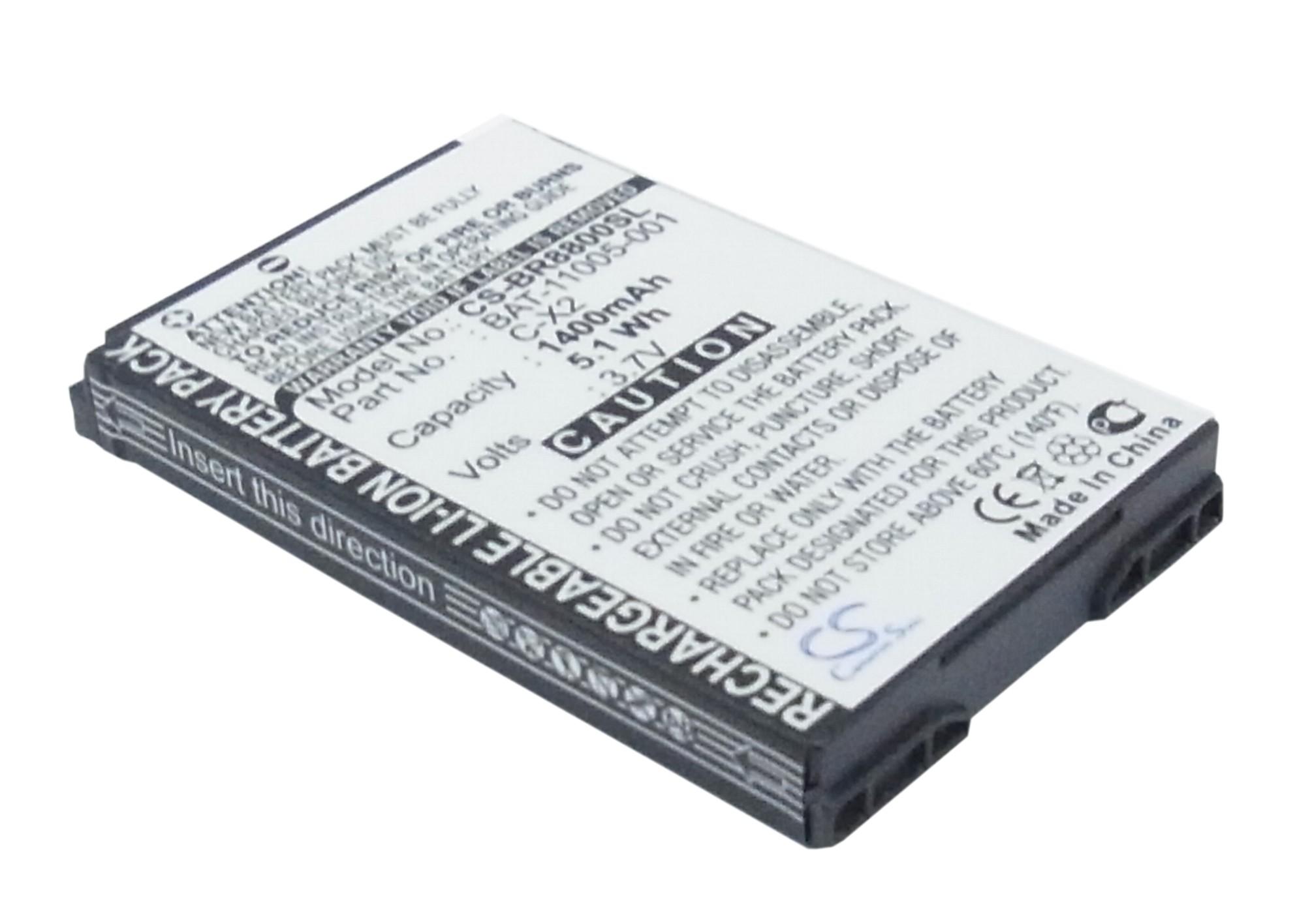 Cameron Sino baterie do mobilů pro BLACKBERRY 8800 3.7V Li-ion 1400mAh černá - neoriginální