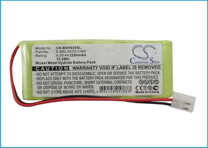 Cameron Sino baterie pro chytré domácnosti za E-BRLX620-1-NC 6V Ni-MH 2200mAh zelená - neoriginální