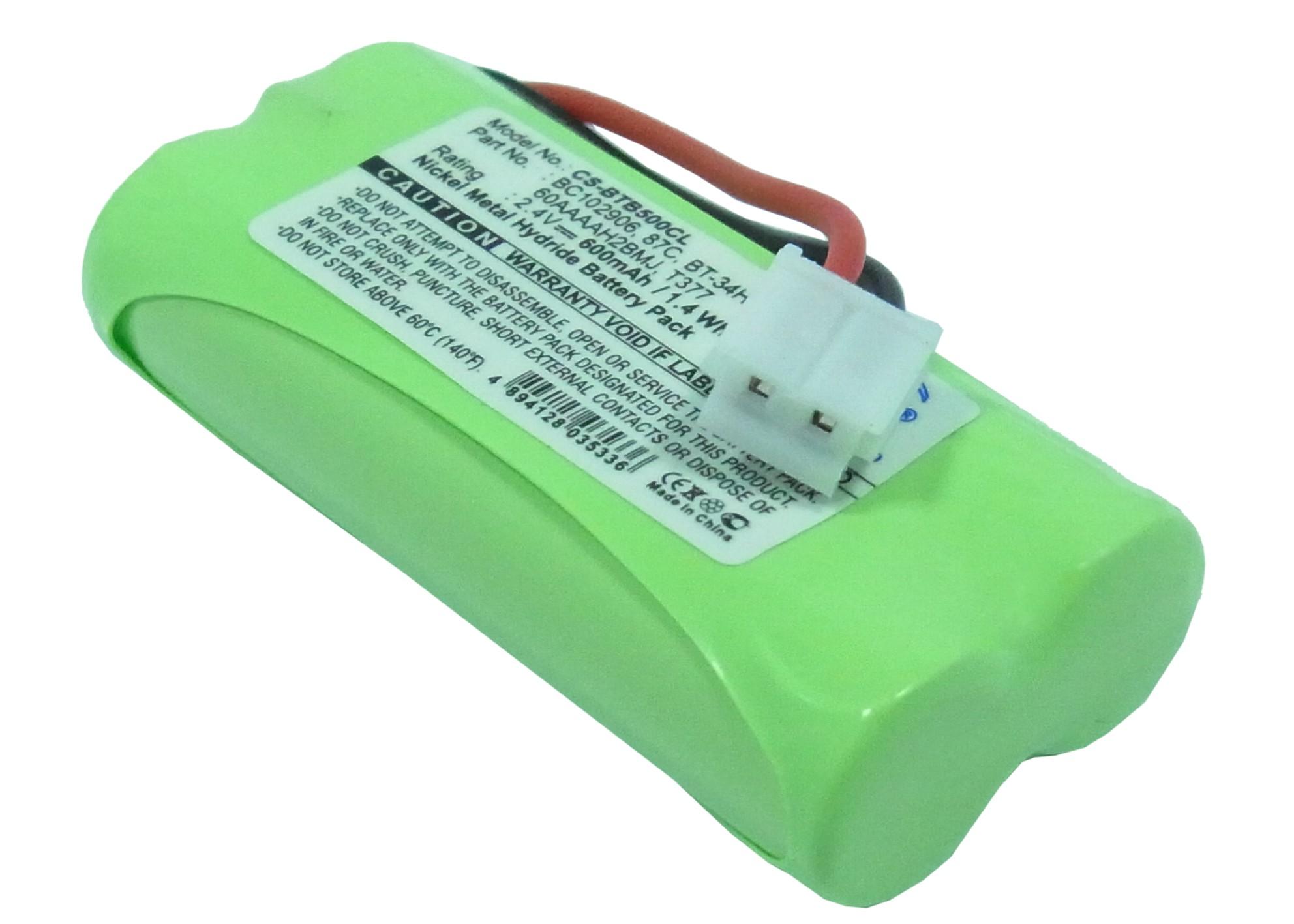 Cameron Sino baterie do bezdrátových telefonů pro LEXIBOOK DP 411 2.4V Ni-MH 600mAh zelená - neoriginální
