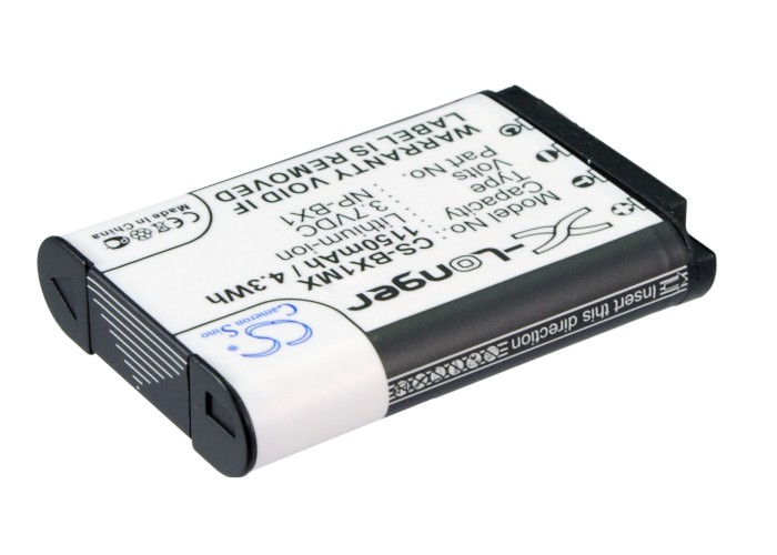 Cameron Sino baterie do kamer a fotoaparátů pro SONY Cyber-shot DSC-WX300/R 3.7V Li-ion 1150mAh černá - neoriginální