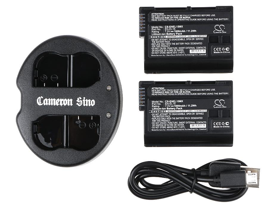 Cameron Sino kombo pack pro NIKON D810 7V Li-ion 1600mAh černá - neoriginální