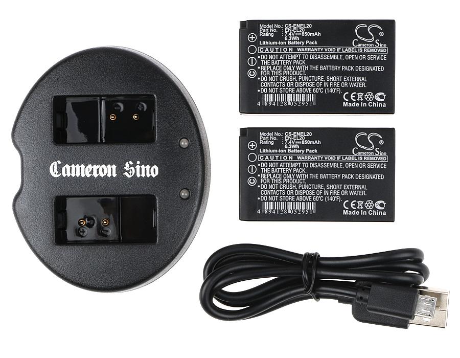 Cameron Sino kombo pack pro NIKON 1 AW1 7.4V Li-ion 850mAh černá - neoriginální