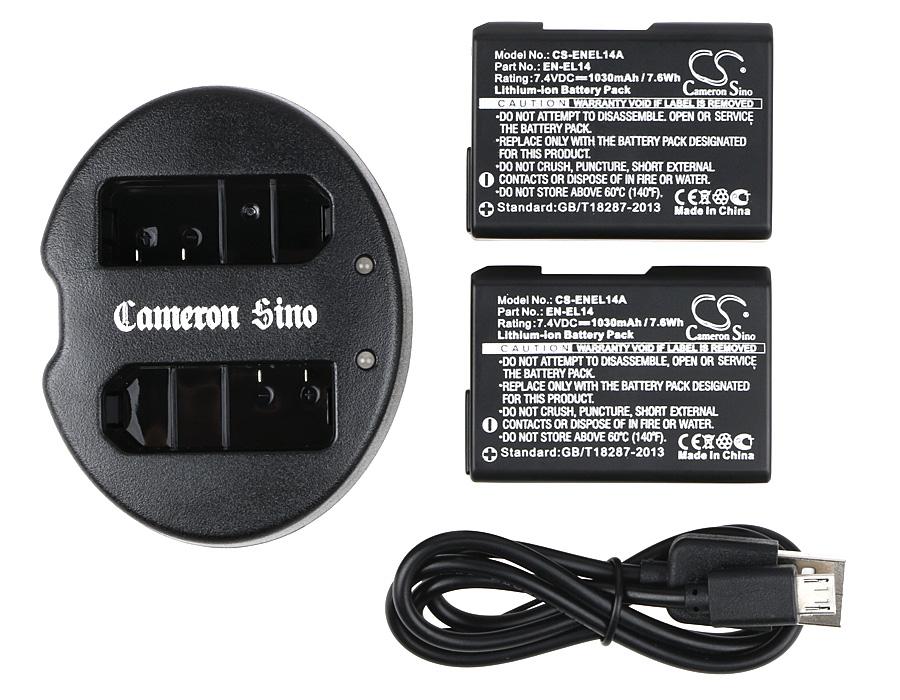 Cameron Sino kombo pack pro NIKON D5100 DSLR 7.4V Li-ion 1030mAh černá - neoriginální