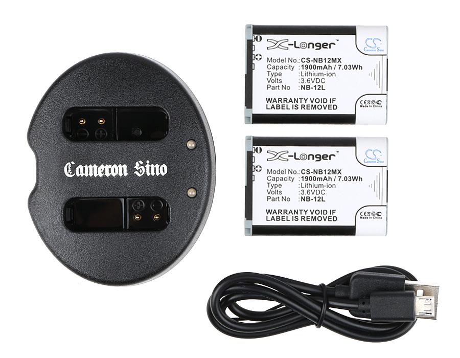 Cameron Sino kombo pack pro CANON PowerShot G1X mark Ⅱ 3.6V Li-ion 1900mAh černá - neoriginální