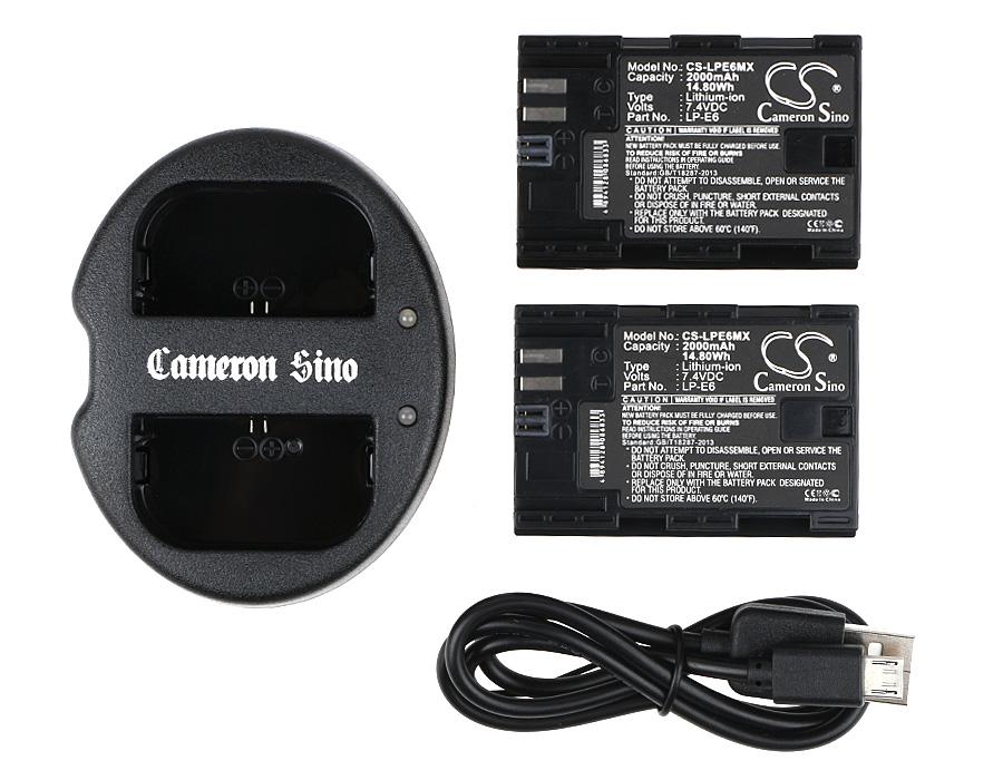 Cameron Sino kombo pack za LP-E6 7.4V Li-ion 2000mAh černá - neoriginální