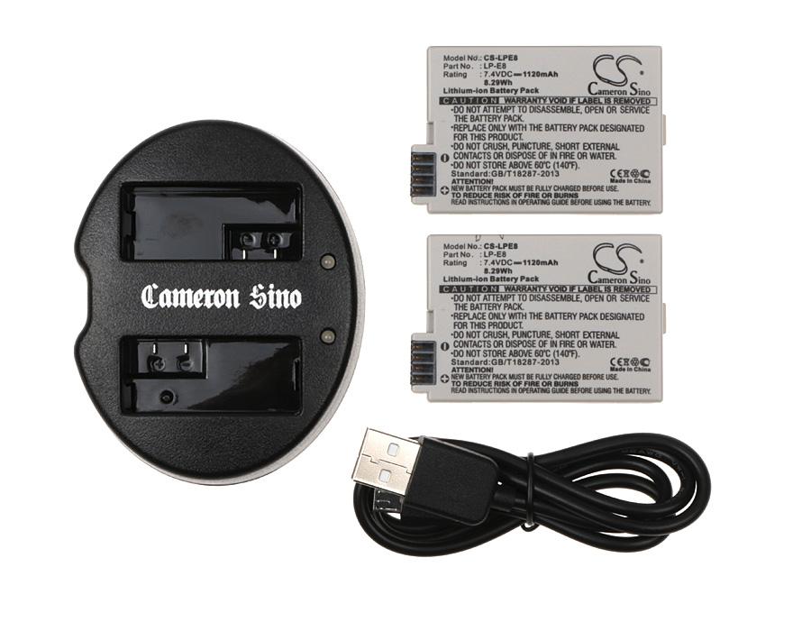 Cameron Sino kombo pack za LP-E8 7.4V Li-ion 1120mAh bílá - neoriginální