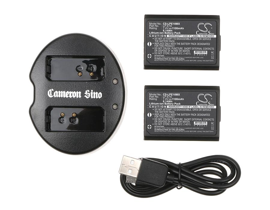 Cameron Sino kombo pack za LP-E10 7.4V Li-ion 1100mAh černá - neoriginální
