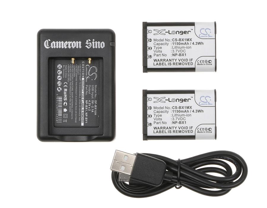 Cameron Sino kombo pack pro SONY Cyber-shot DSC-WX300 3.7V Li-ion 1150mAh černá - neoriginální