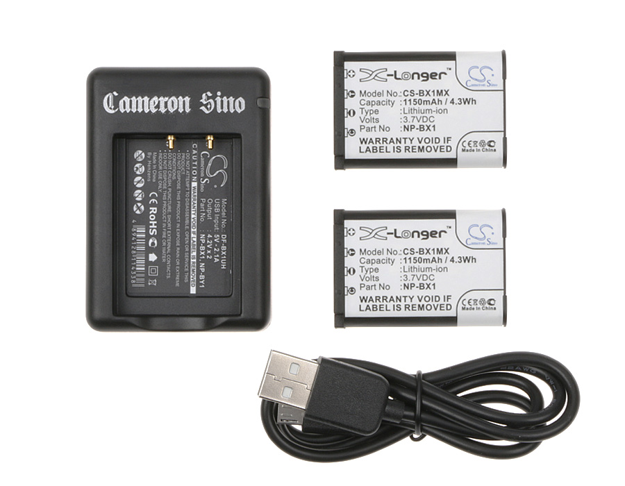 Cameron Sino kombo pack pro SONY Cyber-shot DSC-WX300/T 3.7V Li-ion 1150mAh černá - neoriginální