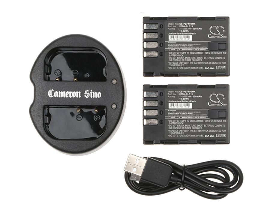 Cameron Sino kombo pack pro PANASONIC Lumix DMC-GH3 7.4V Li-ion 1600mAh černá - neoriginální