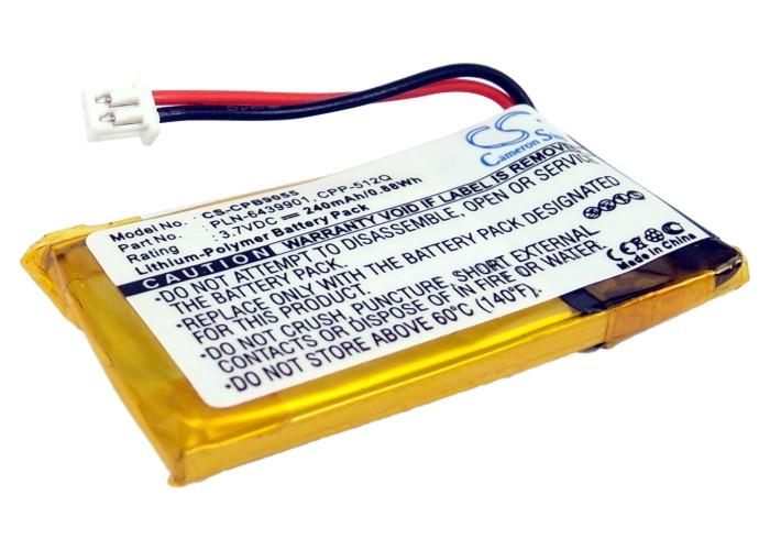 Cameron Sino baterie do bezdrátových sluchátek a headsetů pro PLANTRONICS CS50-USB 3.7V Li-Polymer 240mAh černá - neoriginální
