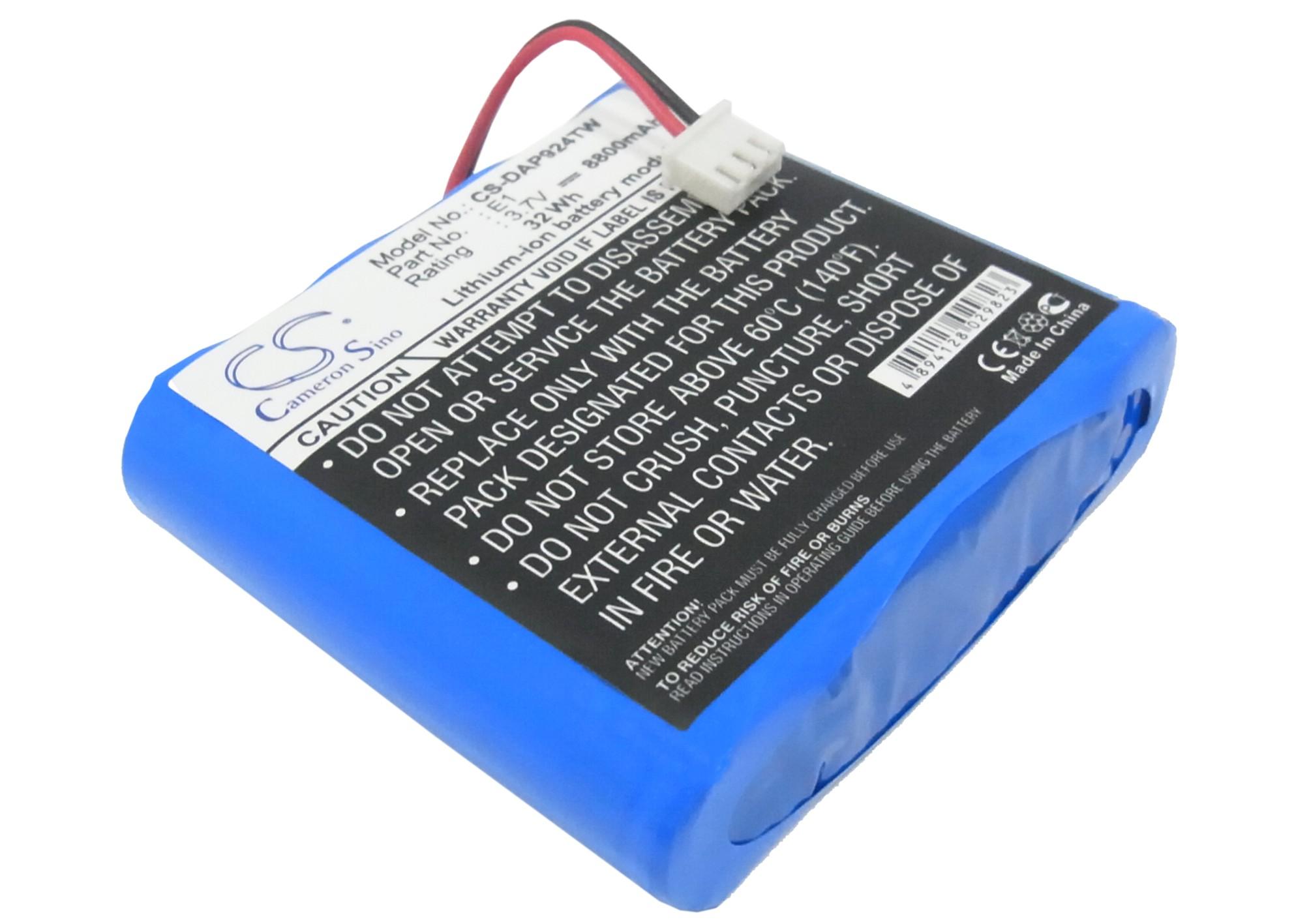 Cameron Sino baterie do digitálních rádií pro PURE EVOKE-1S Marshall 3.7V Li-ion 8800mAh modrá - neoriginální