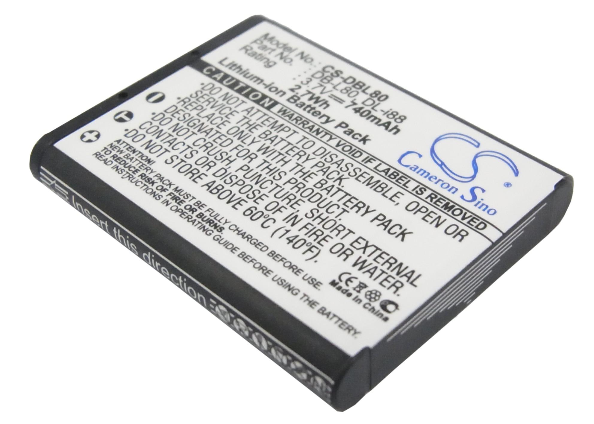 Cameron Sino baterie do kamer a fotoaparátů pro TOSHIBA Camileo SX900 3.7V Li-ion 740mAh černá - neoriginální