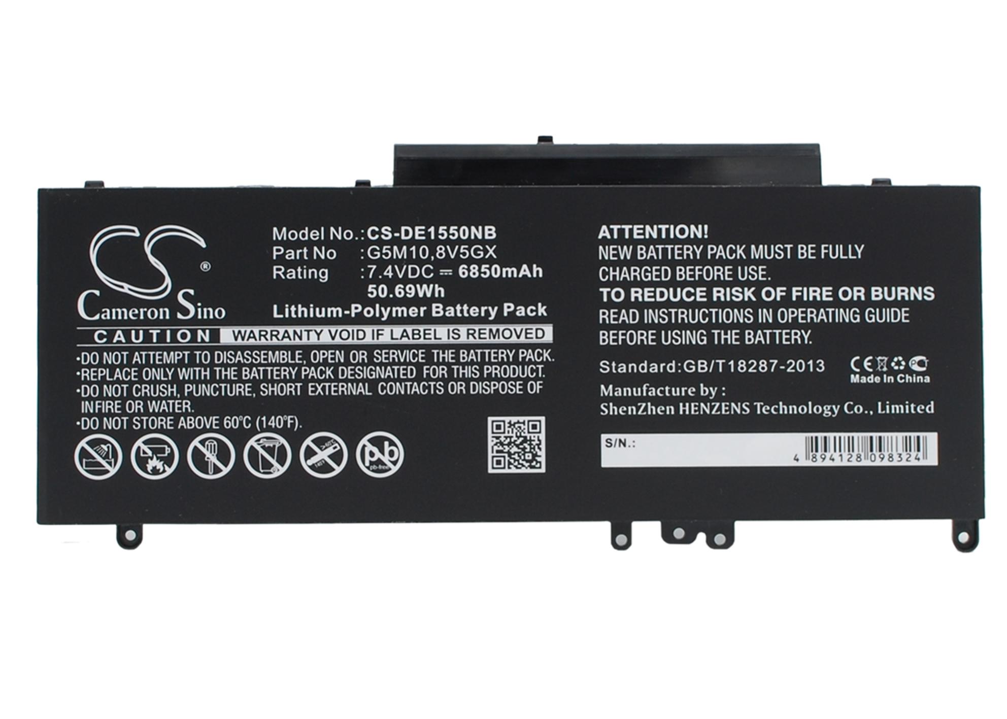 """Cameron Sino baterie do notebooků pro DELL Latitude E5450 15.6"""" 7.4V Li-Polymer 6850mAh černá - neoriginální"""