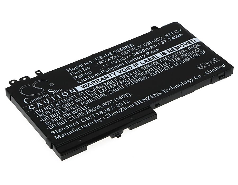 Cameron Sino baterie do notebooků pro DELL Latitude 12 E5250 11.1V Li-Polymer 3400mAh černá - neoriginální