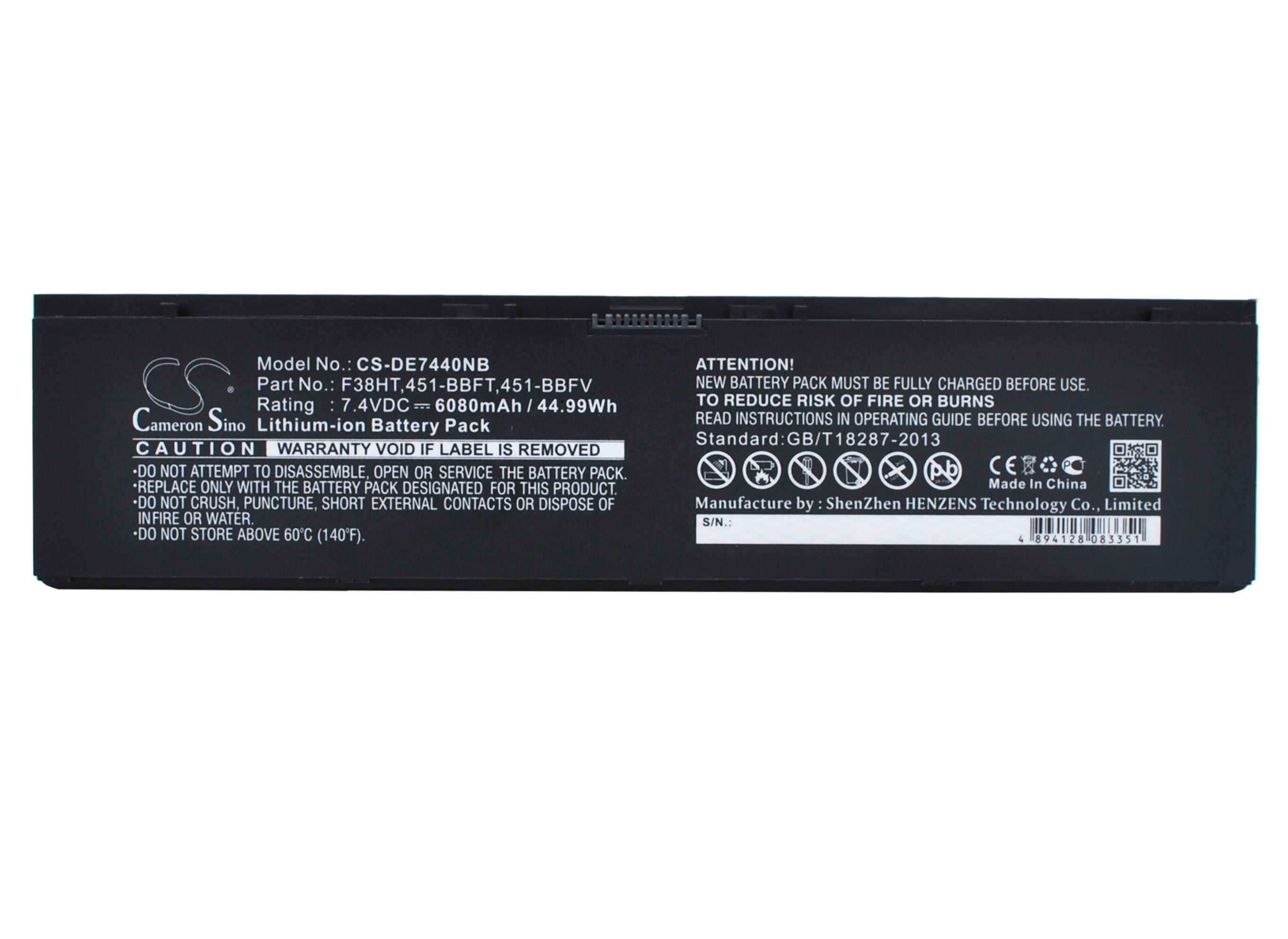 Cameron Sino baterie do notebooků pro DELL Latitude E7440 7.4V Li-Polymer 6080mAh černá - neoriginální