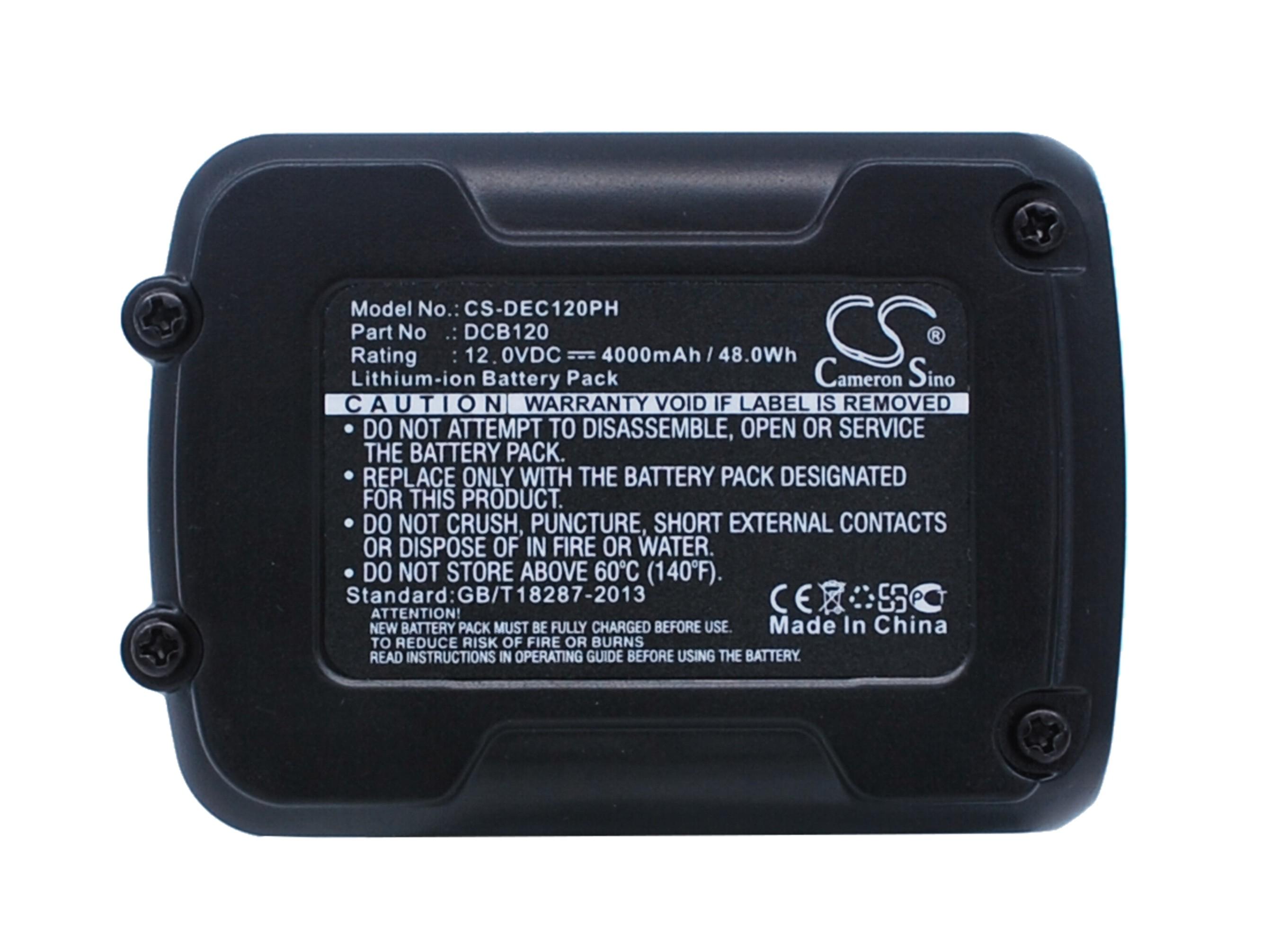 Cameron Sino baterie do nářadí pro DEWALT DCD710S2 12V Li-ion 4000mAh černá žlutá - neoriginální