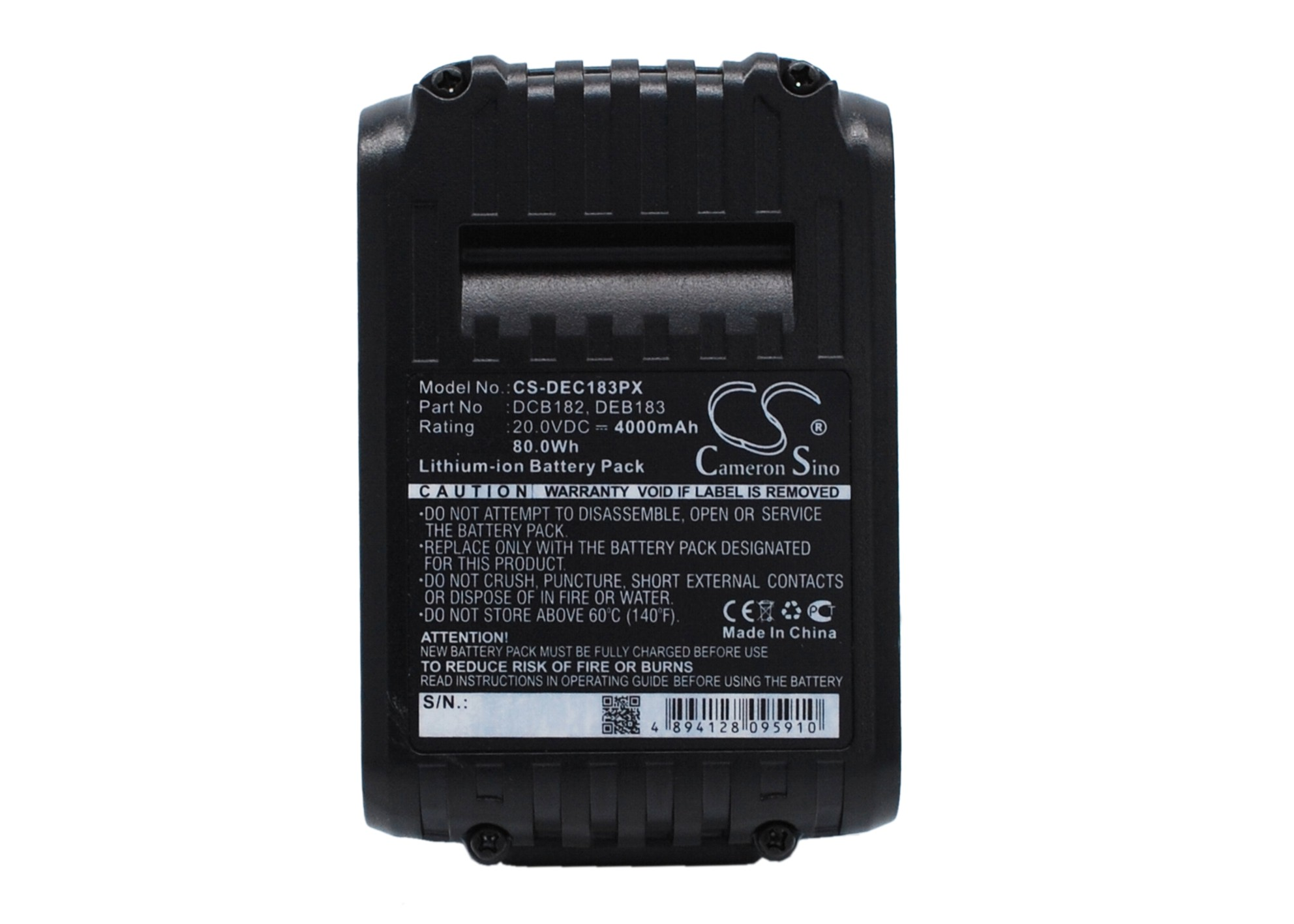 Cameron Sino baterie do nářadí pro DEWALT DCD985L2 20V Li-ion 4000mAh černá - neoriginální