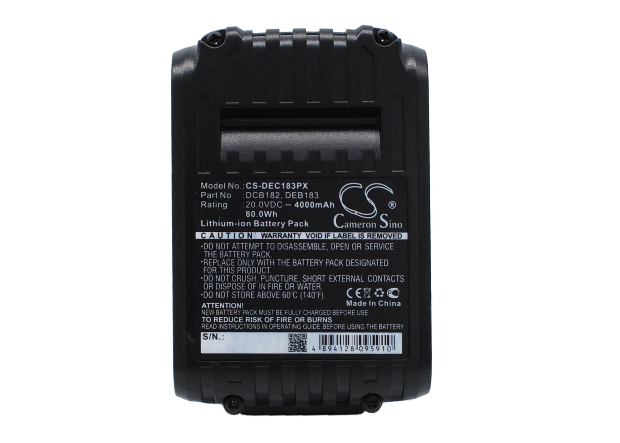 Cameron Sino baterie do nářadí pro DEWALT DCG412B 20V Li-ion 4000mAh černá - neoriginální
