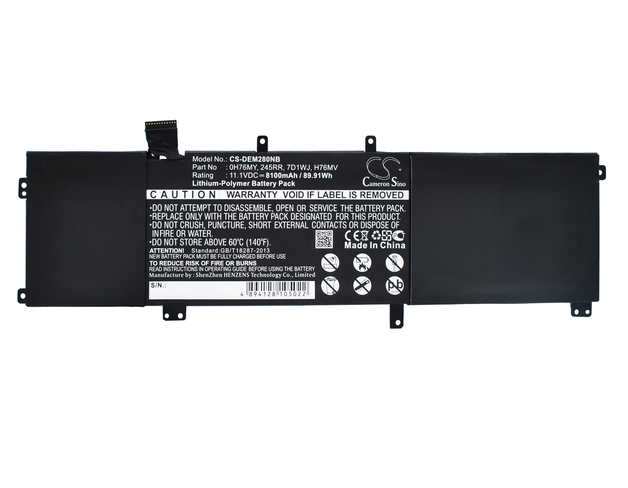 Cameron Sino baterie do notebooků pro DELL Precision M2800 11.1V Li-Polymer 8100mAh černá - neoriginální