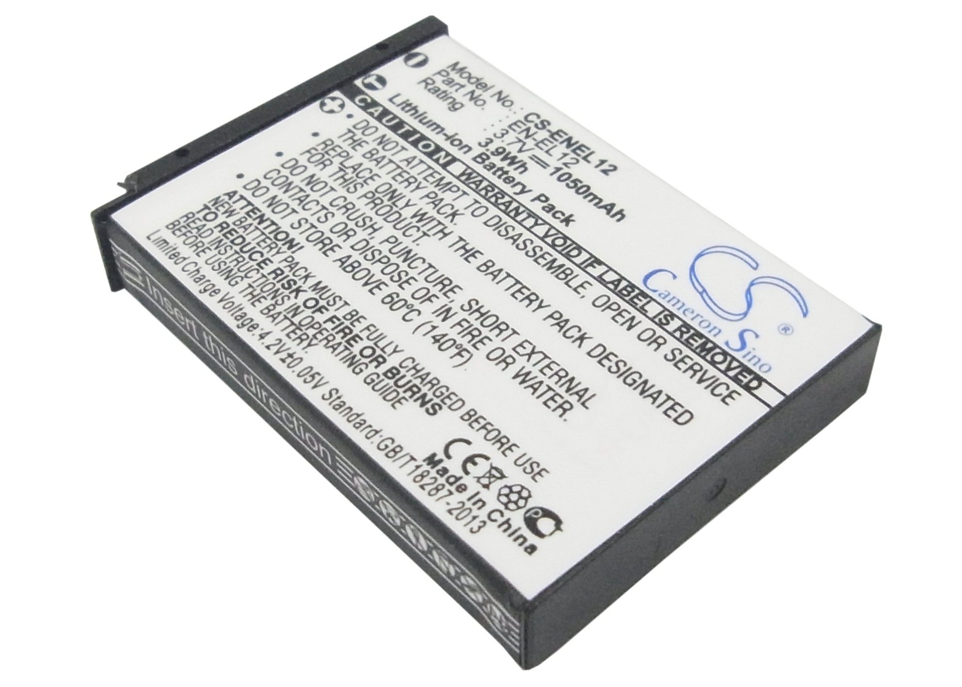 Cameron Sino baterie do kamer a fotoaparátů pro NIKON Coolpix S620 3.7V Li-ion 1050mAh černá - neoriginální