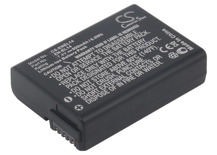 Cameron Sino baterie do kamer a fotoaparátů pro NIKON D5100 DSLR 7.4V Li-ion 900mAh černá - neoriginální
