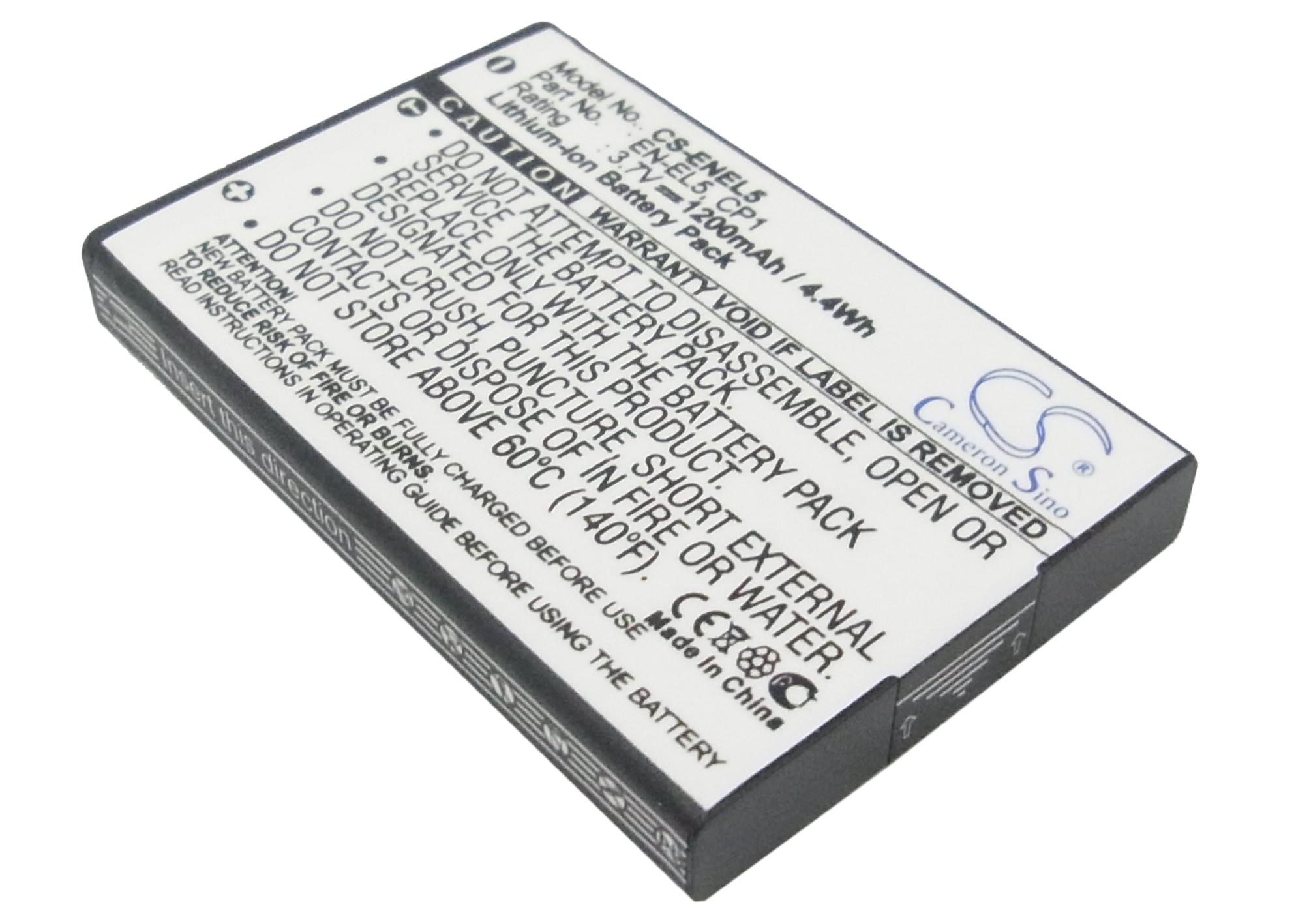 Cameron Sino baterie do kamer a fotoaparátů pro NIKON Coolpix 3700 3.7V Li-ion 1200mAh černá - neoriginální