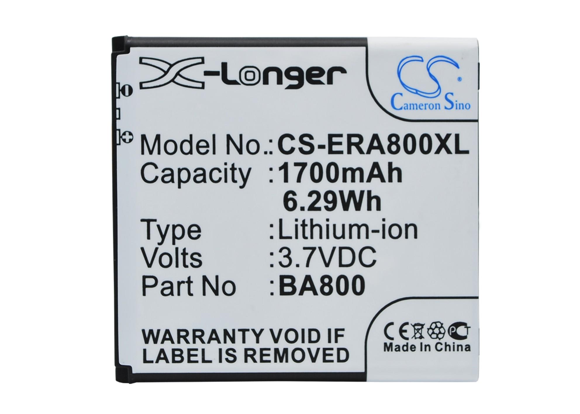 Cameron Sino baterie do mobilů pro SONY ERICSSON Xperia Arc S 3.7V Li-ion 1700mAh černá - neoriginální