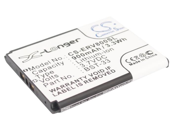 Cameron Sino baterie do mobilů pro SONY ERICSSON W100i 3.7V Li-ion 900mAh černá - neoriginální
