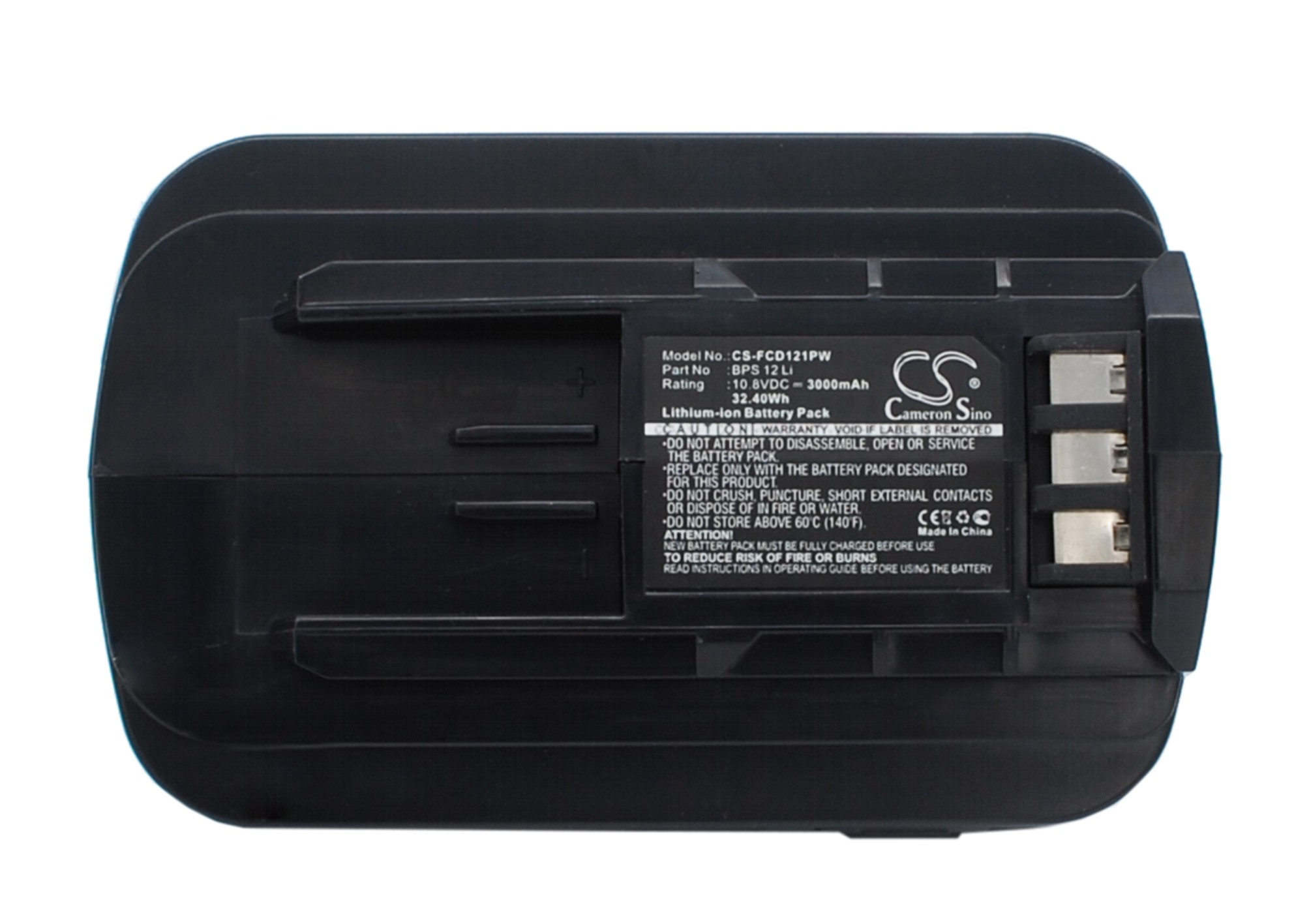 Cameron Sino baterie do nářadí pro FESTOOL T12+3 Cordless Drill 10.8V Li-ion 3000mAh černá - neoriginální