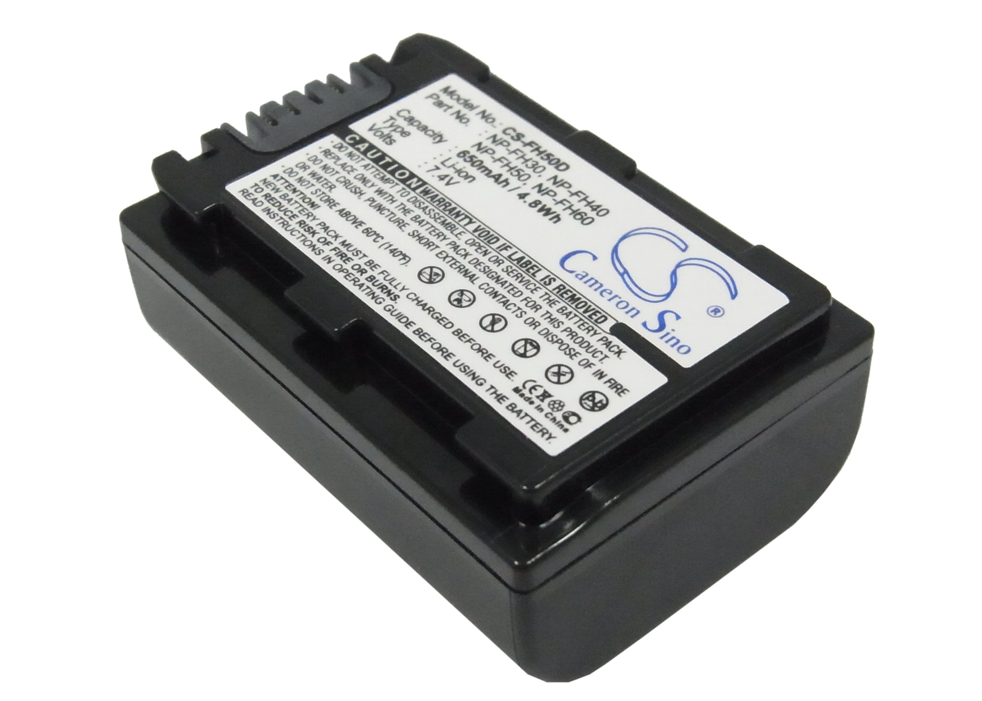 Cameron Sino baterie do kamer a fotoaparátů pro SONY DCR-SR90E 7.4V Li-ion 650mAh tmavě šedá - neoriginální
