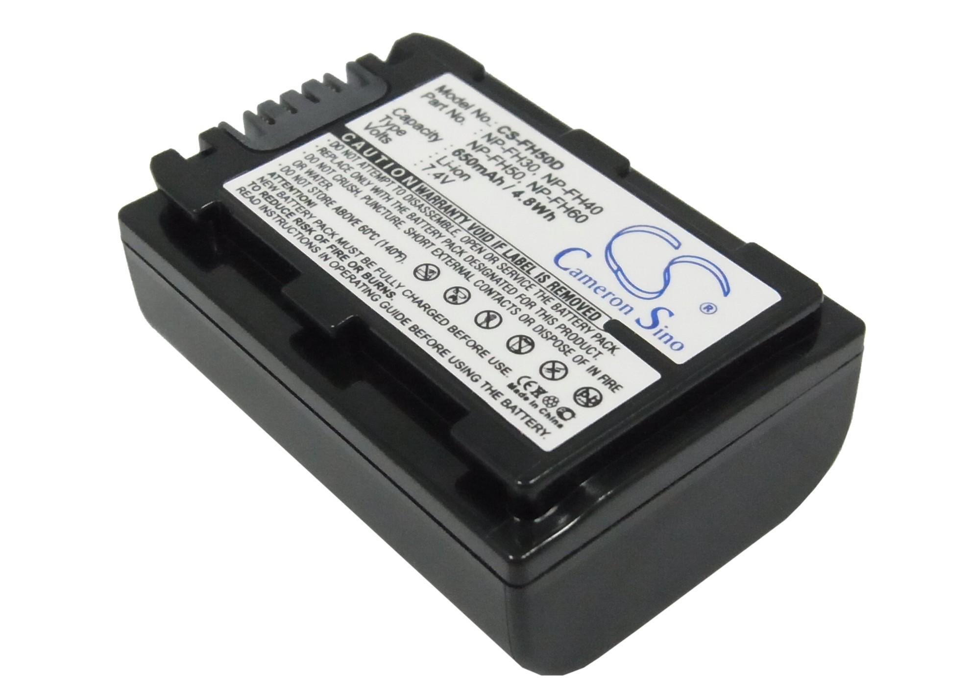 Cameron Sino baterie do kamer a fotoaparátů pro SONY HDR-UX20/E 7.4V Li-ion 650mAh tmavě šedá - neoriginální