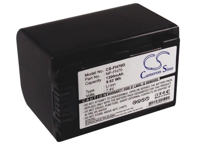 Cameron Sino baterie do kamer a fotoaparátů pro SONY DCR-HC30 7.4V Li-ion 1300mAh tmavě šedá - neoriginální