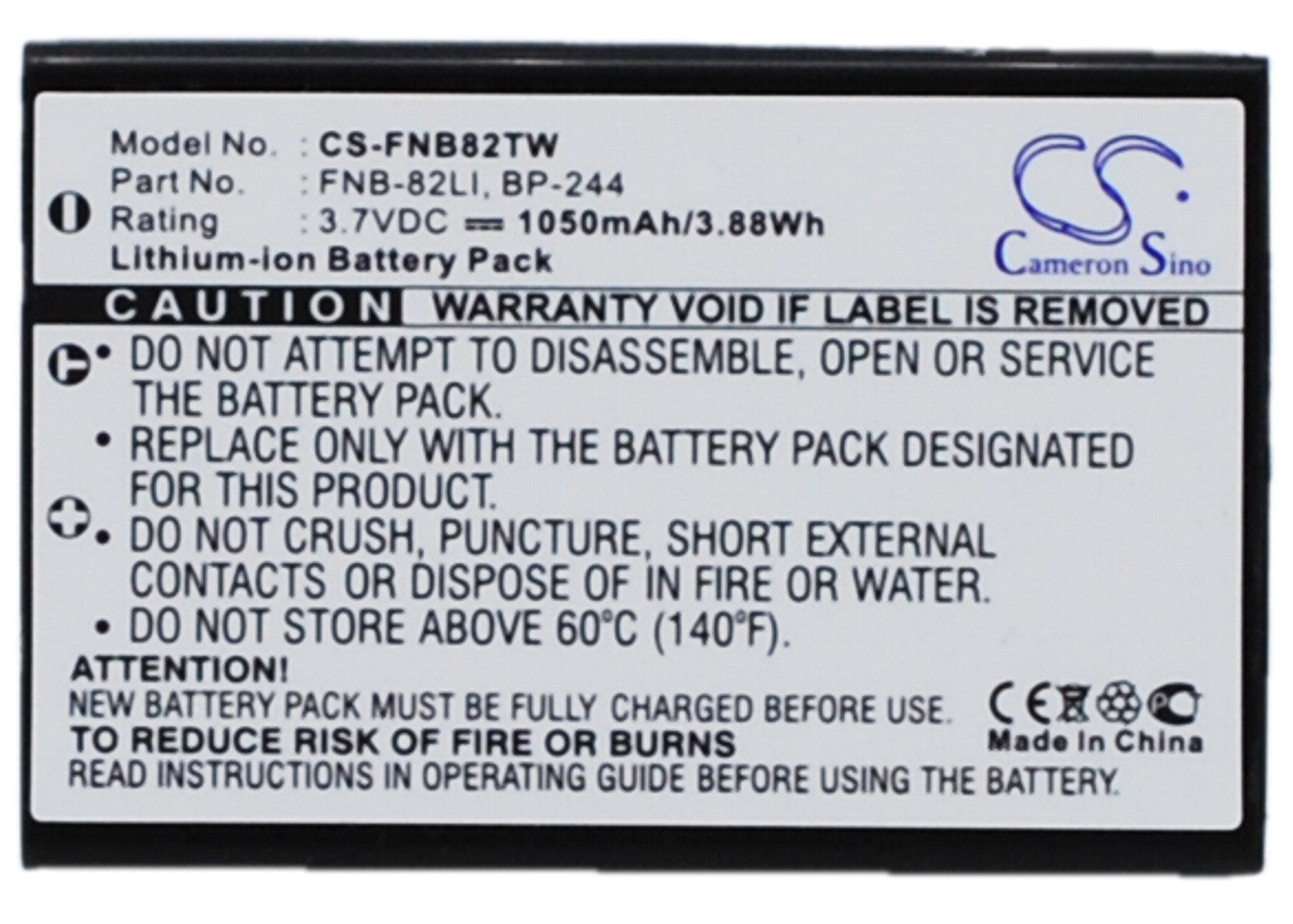 Cameron Sino baterie do vysílaček za BP-244 3.7V Li-ion 1050mAh černá - neoriginální