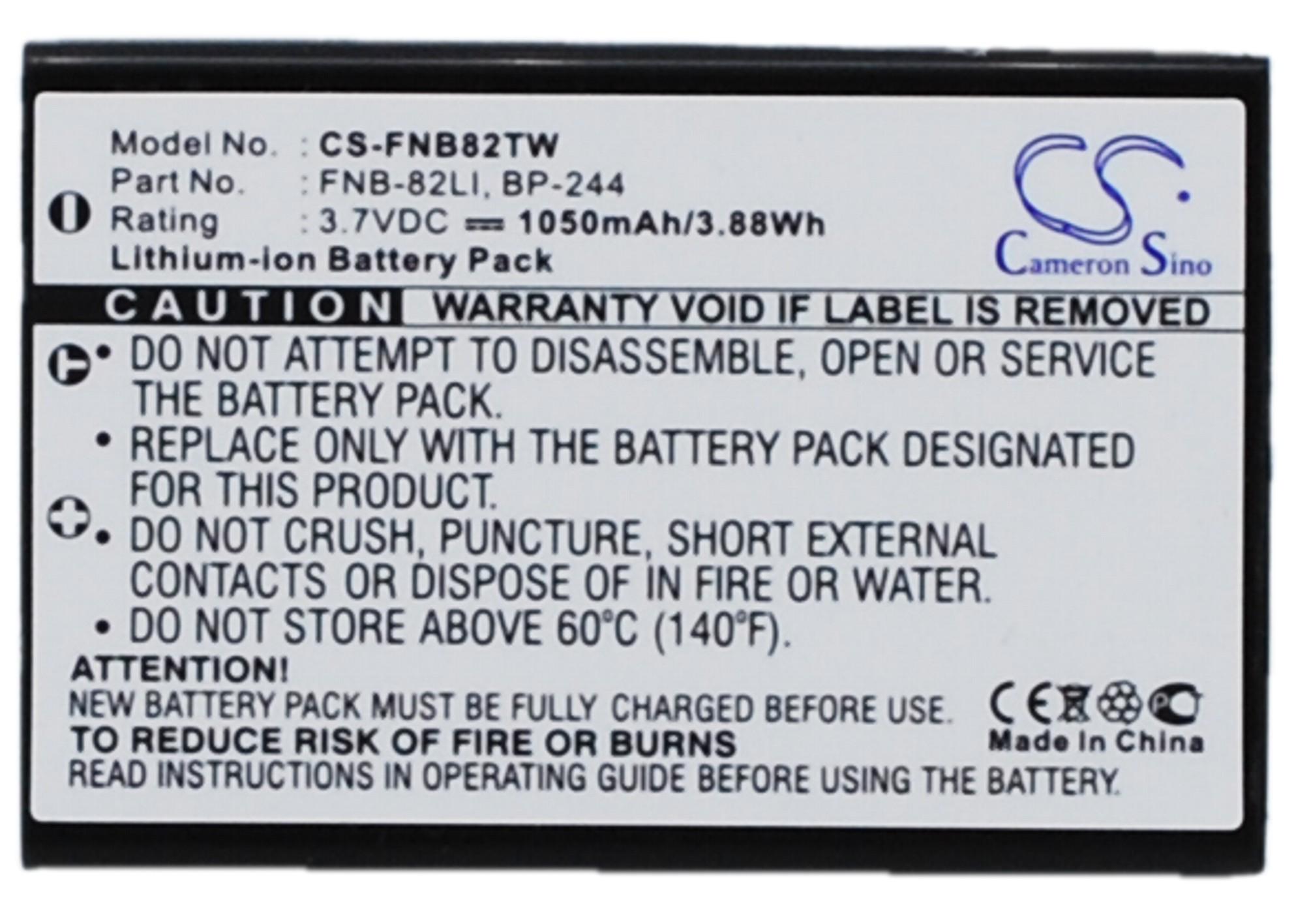 Cameron Sino baterie do vysílaček za FNB-82LI 3.7V Li-ion 1050mAh černá - neoriginální