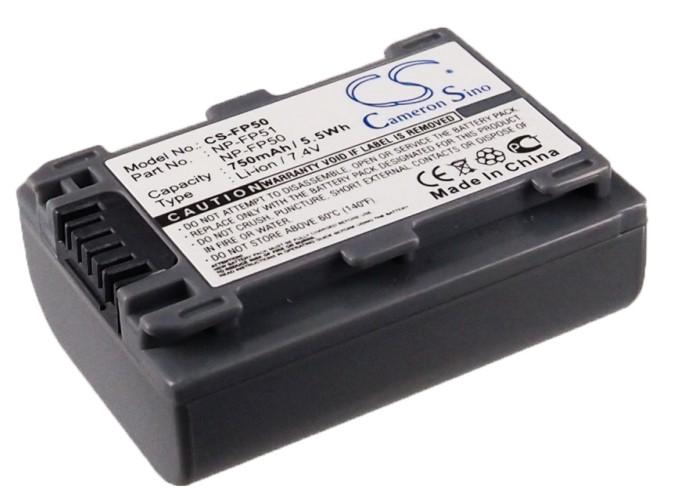 Cameron Sino baterie do kamer a fotoaparátů pro SONY DCR-DVD203E 7.4V Li-ion 750mAh šedá - neoriginální