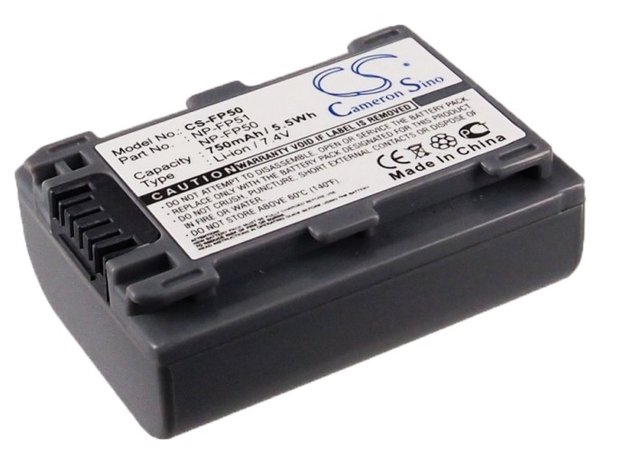 Cameron Sino baterie do kamer a fotoaparátů pro SONY DCR-HC42 7.4V Li-ion 750mAh šedá - neoriginální
