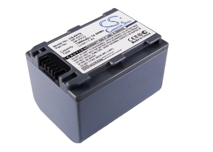 Cameron Sino baterie do kamer a fotoaparátů pro SONY DCR-HC30 7.4V Li-ion 1360mAh tmavě šedá - neoriginální