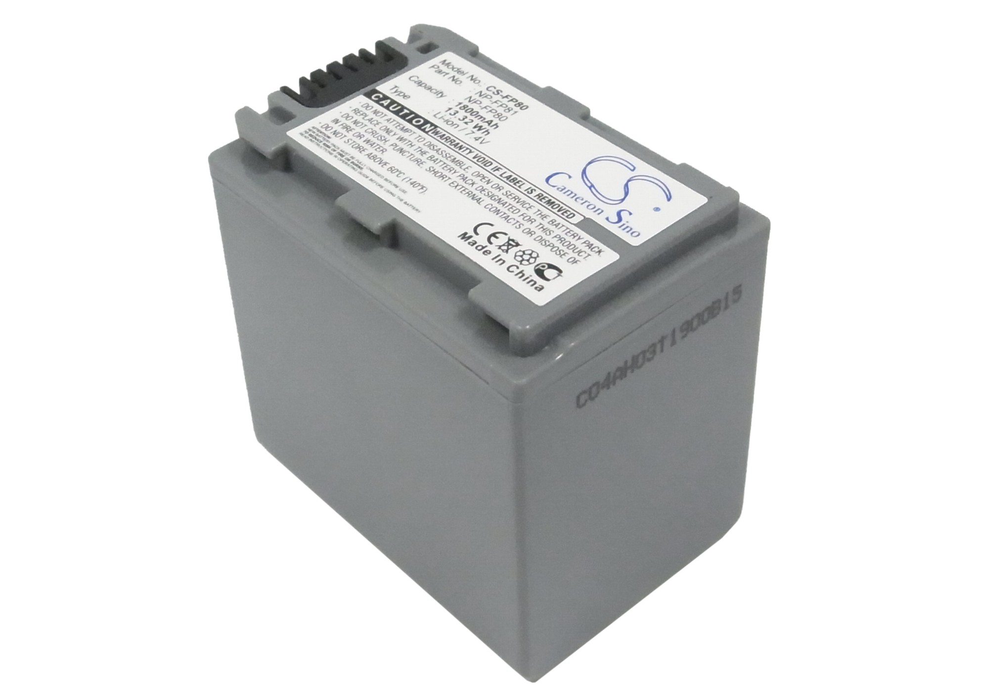 Cameron Sino baterie do kamer a fotoaparátů pro SONY DCR-HC30 7.4V Li-ion 1800mAh tmavě šedá - neoriginální