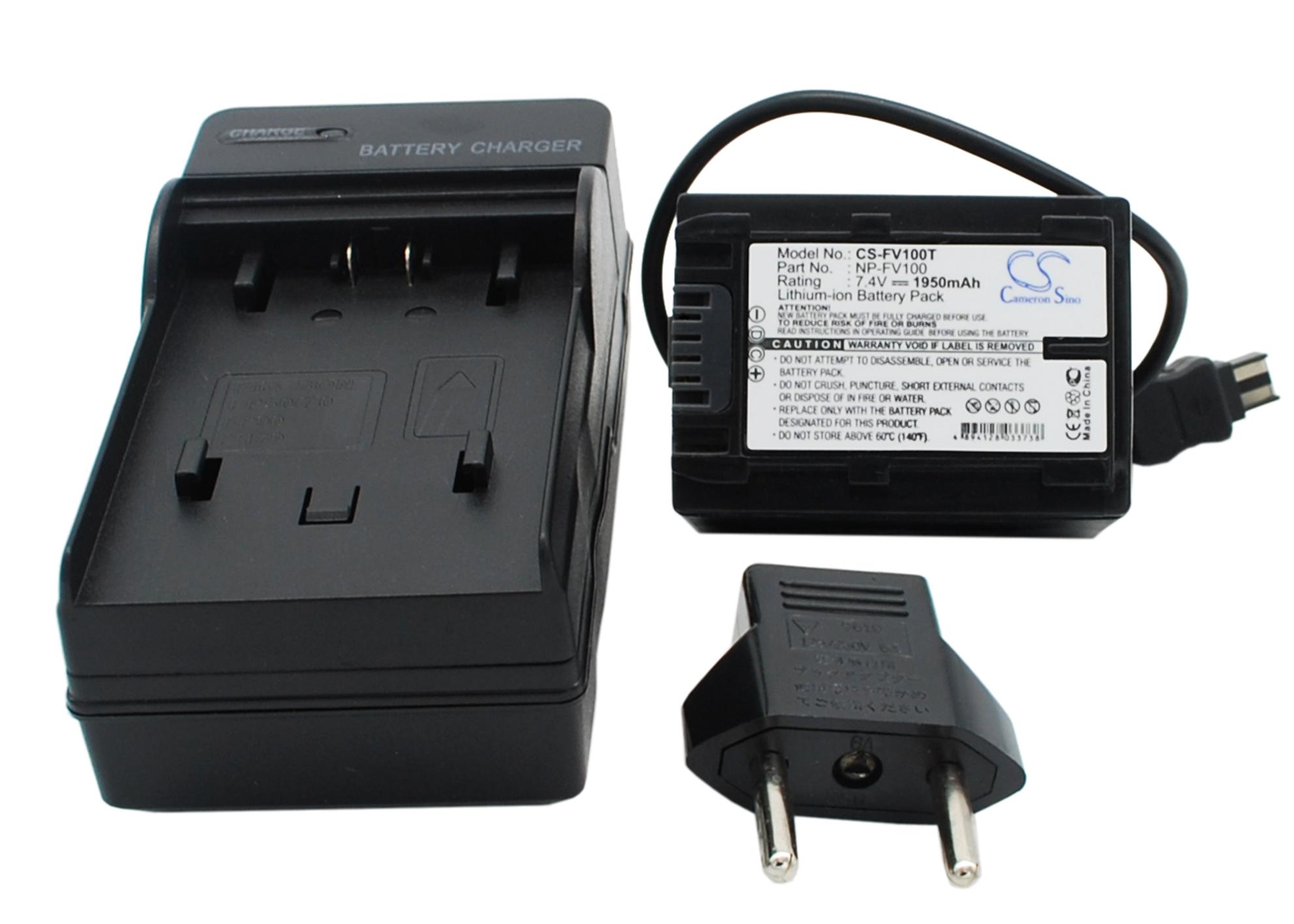 Cameron Sino baterie do kamer a fotoaparátů pro SONY HDR-CX300 7.4V Li-ion 1950mAh černá - neoriginální