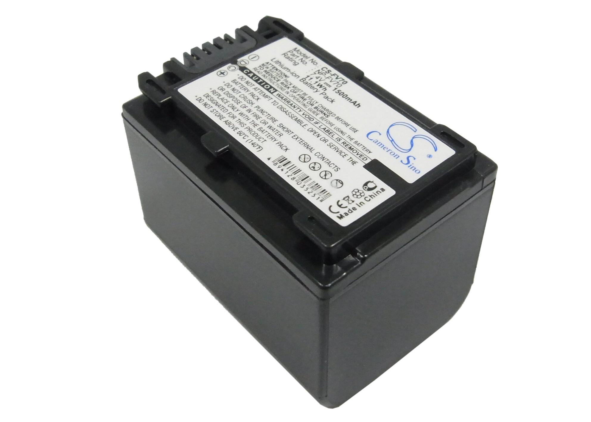 Cameron Sino baterie do kamer a fotoaparátů pro SONY DCR-SR68R 7.4V Li-ion 1500mAh černá - neoriginální