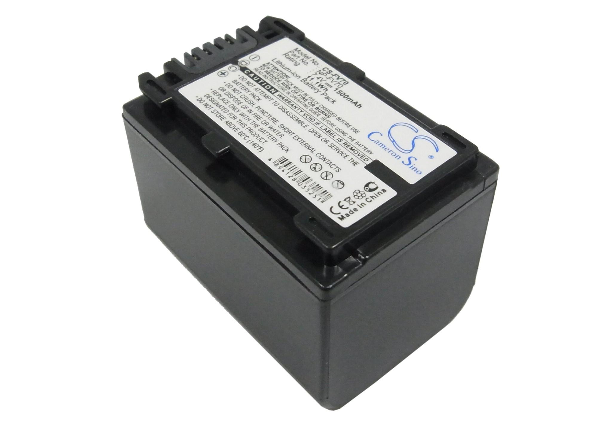 Cameron Sino baterie do kamer a fotoaparátů pro SONY HDR-CX520V 7.4V Li-ion 1500mAh černá - neoriginální