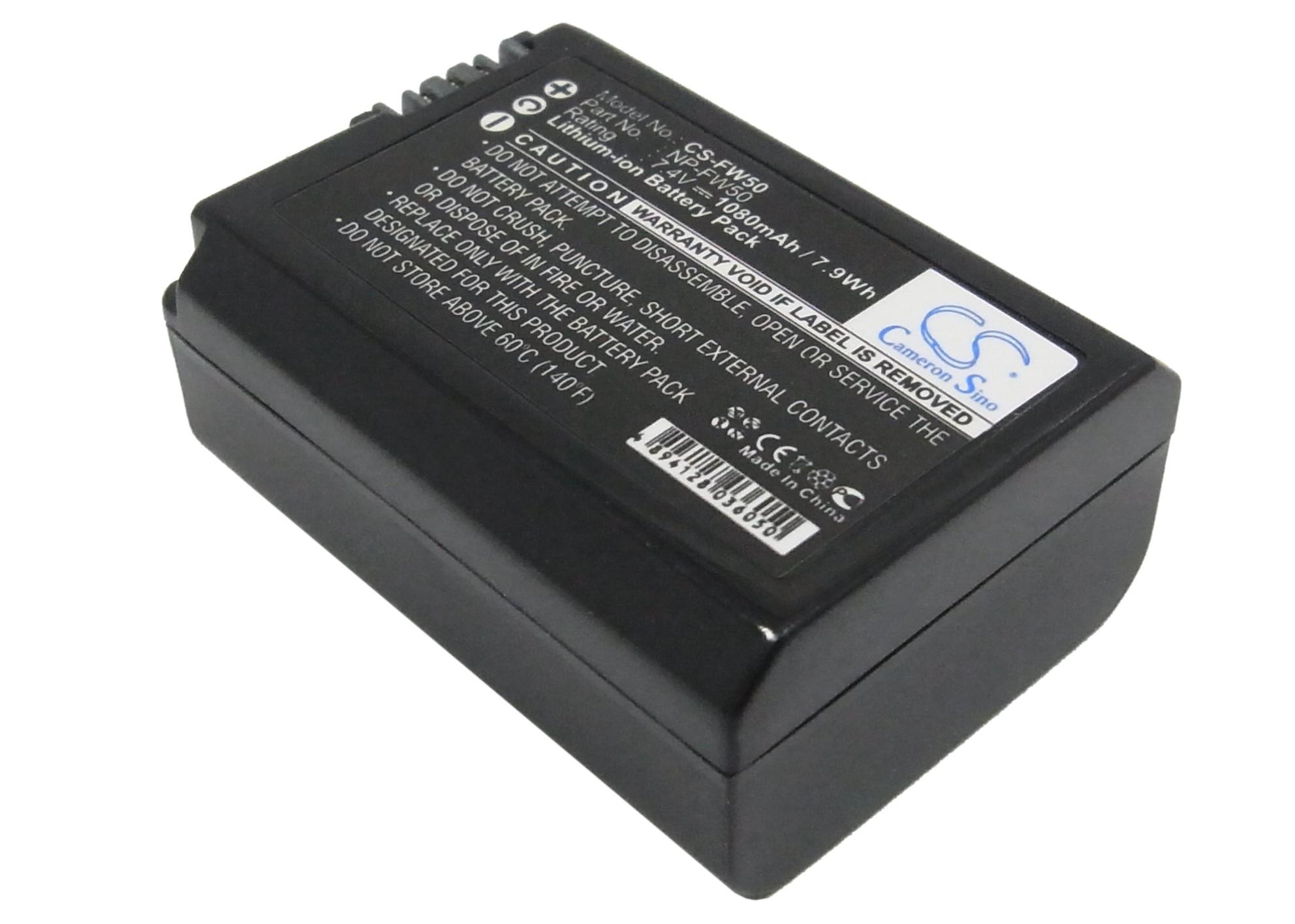 Cameron Sino baterie do kamer a fotoaparátů pro SONY Mirrorless Alpha A6000 7.4V Li-ion 1080mAh černá - neoriginální