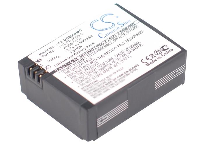 Cameron Sino baterie do kamer a fotoaparátů pro GOPRO HD Hero3 Black Edition 3.7V Li-ion 950mAh černá - neoriginální