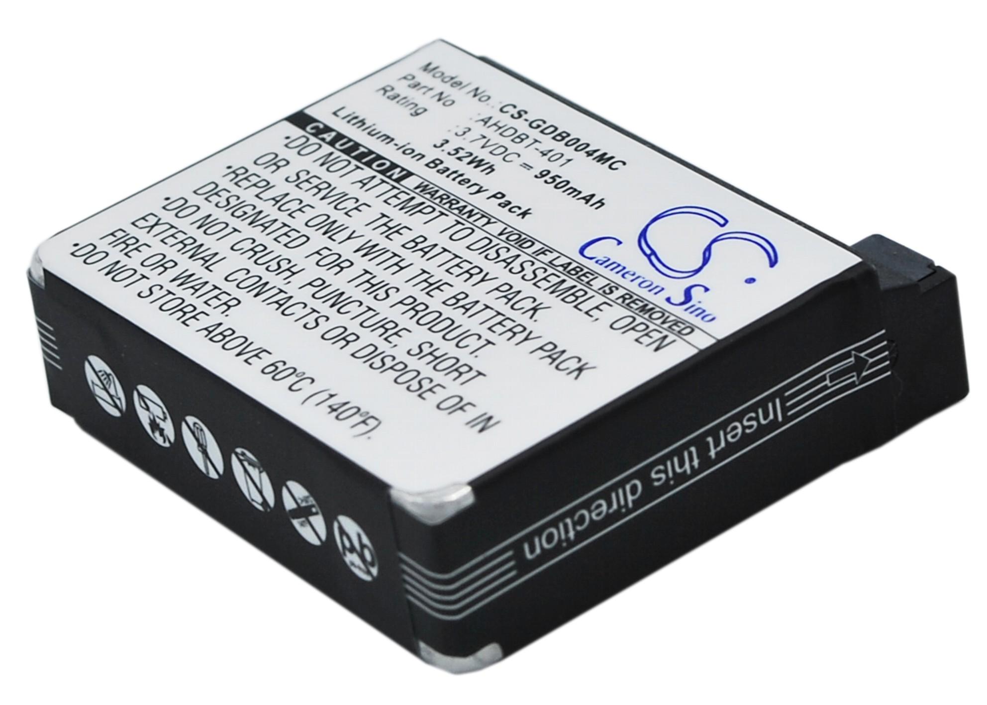 Cameron Sino baterie do kamer a fotoaparátů pro GOPRO Hero 4 Black 3.7V Li-ion 950mAh černá - neoriginální