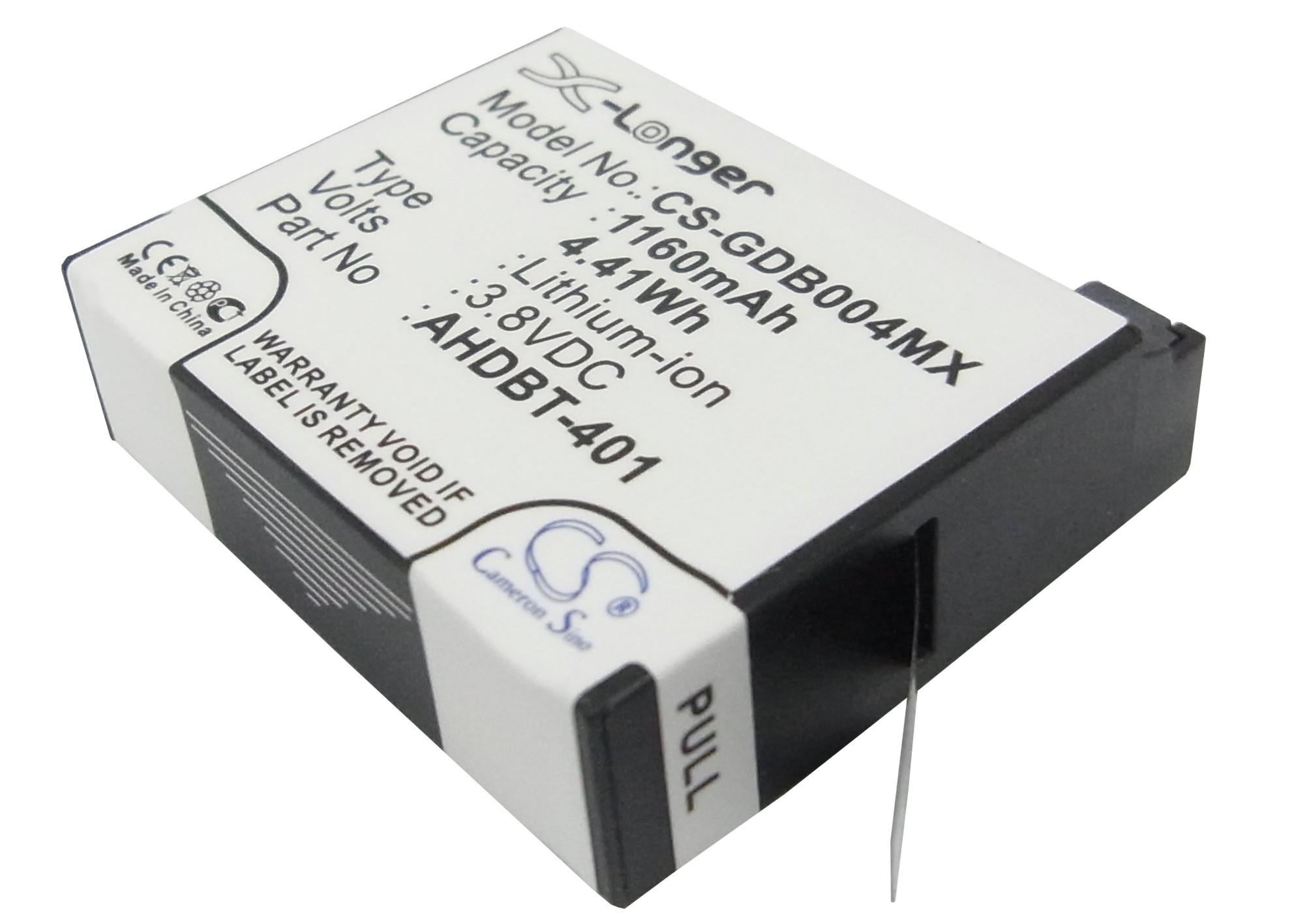 Cameron Sino baterie do kamer a fotoaparátů pro GOPRO Hero 4 Black 3.8V Li-ion 1160mAh černá - neoriginální
