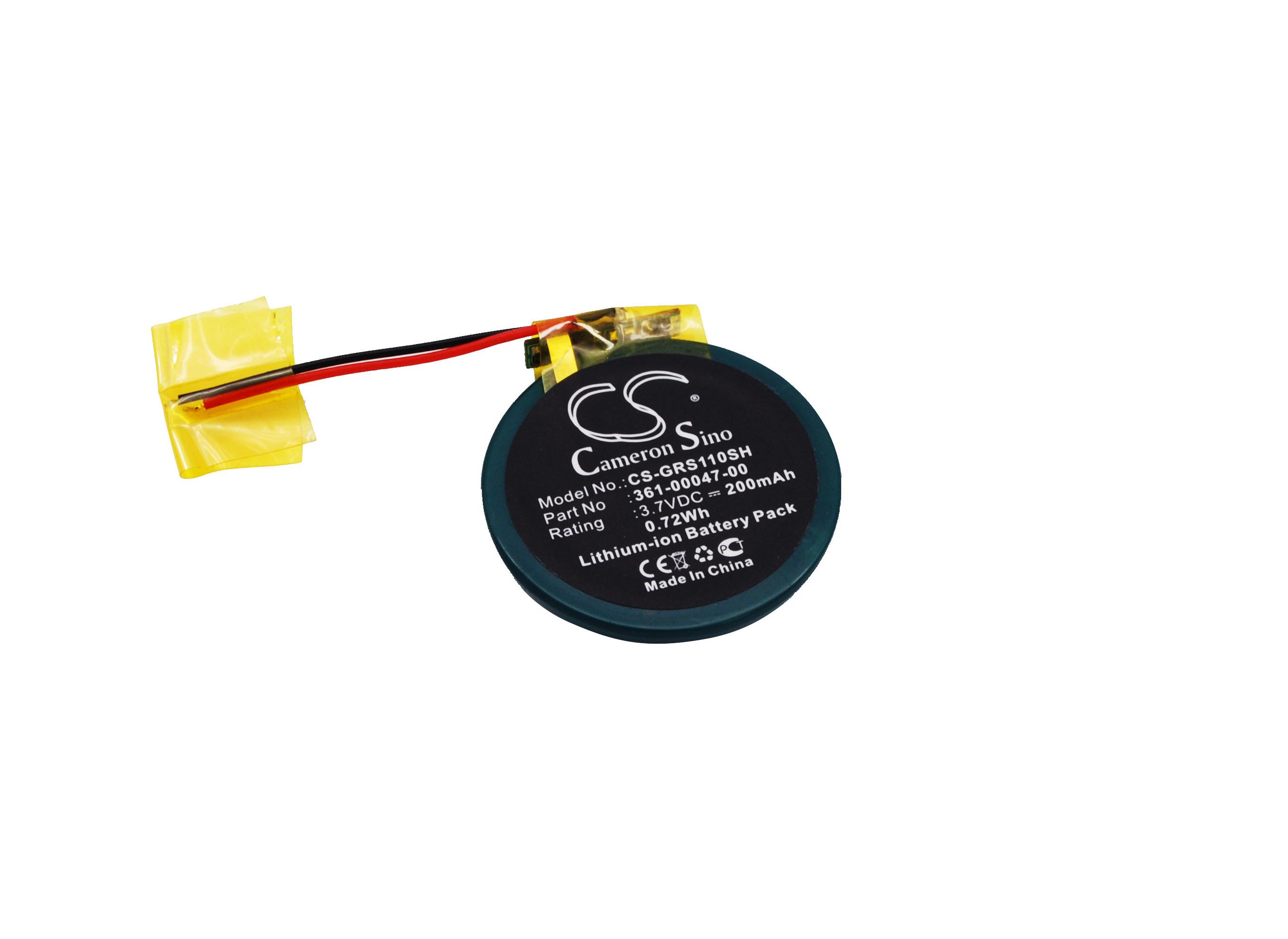 Cameron Sino baterie do chytrých hodinek pro GARMIN Approach S1 3.7V Li-ion 200mAh černá - neoriginální