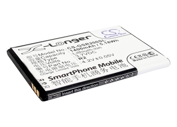 Cameron Sino baterie do mobilů pro GIGABYTE Gsmart Roma R2 3.7V Li-ion 1400mAh černá - neoriginální