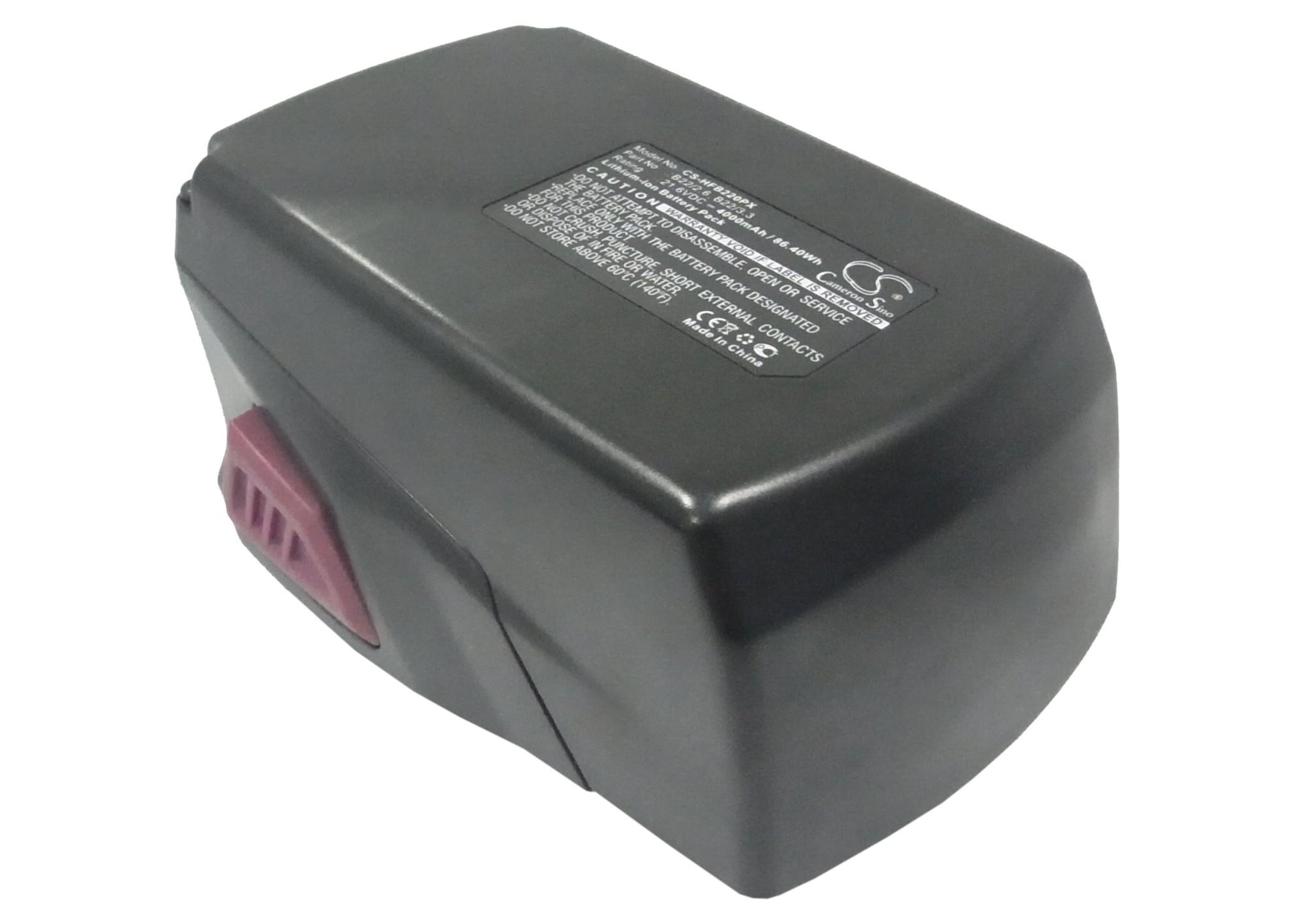 Cameron Sino baterie do nářadí pro HILTI SF 22-A 21.6V Li-ion 4000mAh červená černá - neoriginální