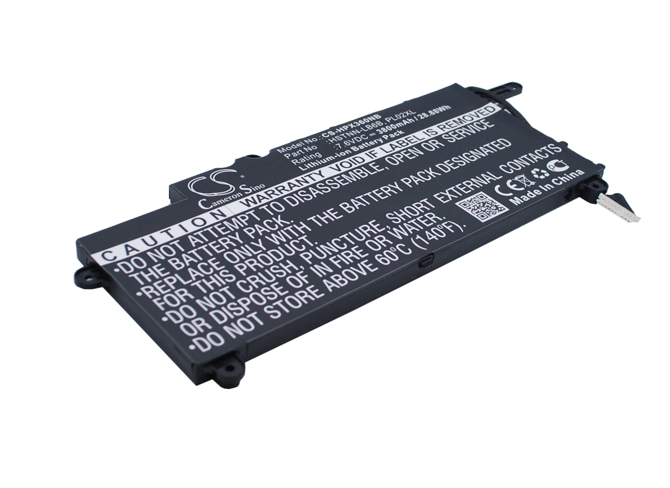 Cameron Sino baterie do notebooků pro HP Pavilion 11 X360 7.6V Li-ion 3800mAh černá - neoriginální